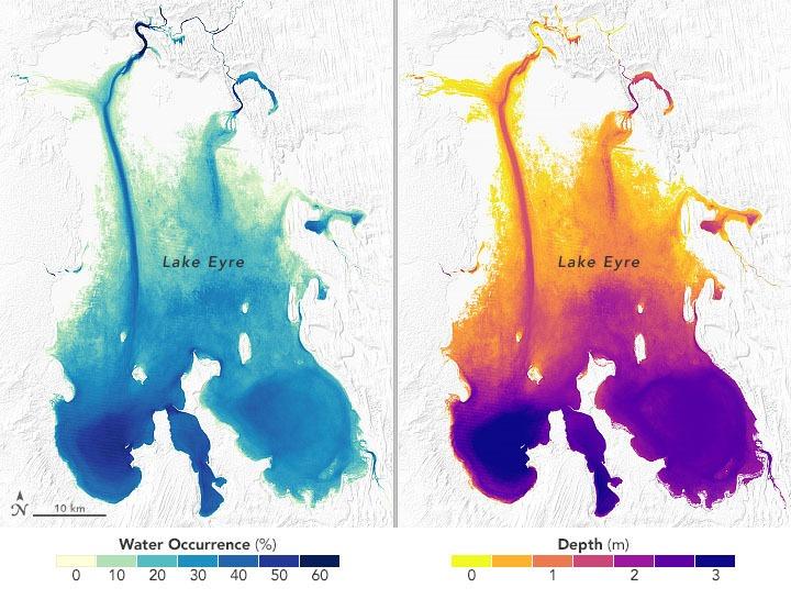 אגם אייר באוסטרליה. צילום מתוך המחקר
