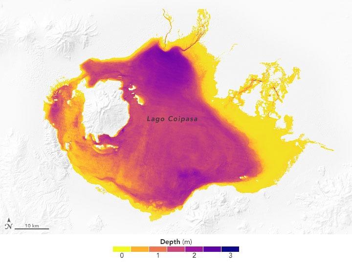 האגם בבוליביה. צילום מתוך המחקר