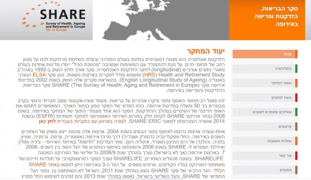 סקר share, צילום מסך מאתר http://igdc.huji.ac.il/