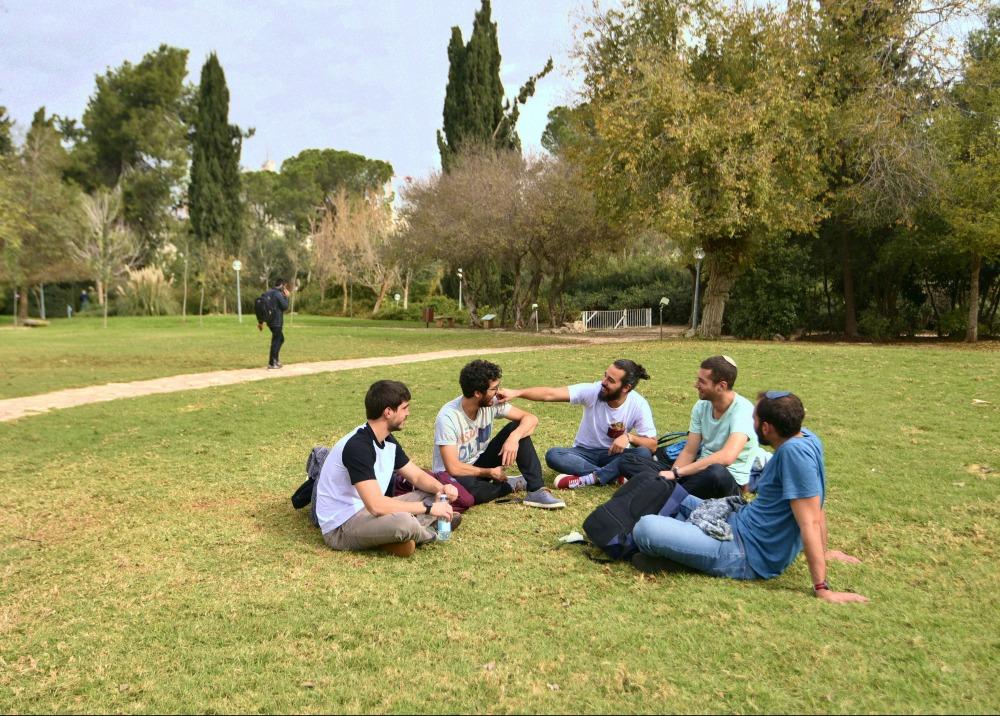 סטודנטים בגבעת רם