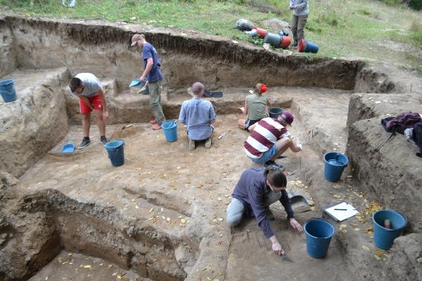 """המקום שבו נערכו החפירות. צילום - ד""""ר אריאל מלינסקי-בולר."""