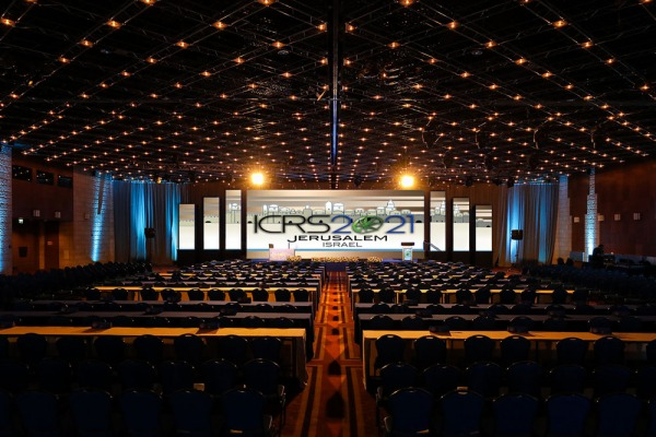 תמונת הדמייה של אולם טדי בבנייני האומה ירושלים במהלך כנס הקנאביס הבינלאומי